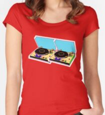 retro music Women's Fitted Scoop T-Shirt