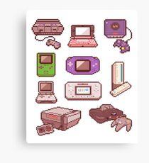 8Bit Consoles Canvas Print