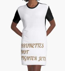 Flight of the Conchords Brunettes Not Fighter Jets Graphic T-Shirt Dress
