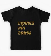 Flight of the Conchords Blondes Not Bombs Kids Tee