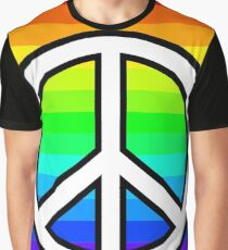 Rainbow Peace Sign - Feel Good Collection Graphic T-Shirt