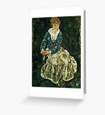 Egon Schiele - The Artists Wife Seated Greeting Card