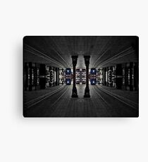Black and White and Blue Light Canvas Print