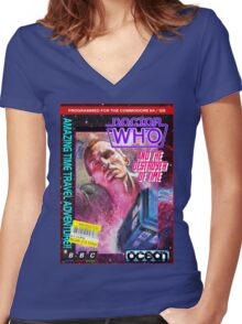 9th Doctor Commodore 64 Video Game Cover! Women's Fitted V-Neck T-Shirt