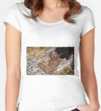 Egon Schiele - The Embrace 1917 Women's Fitted Scoop T-Shirt