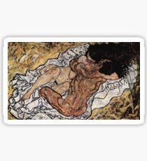 Egon Schiele - L'Étreinte 1917 Sticker