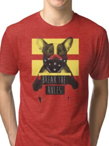 Rebel dog (yellow) Tri-blend T-Shirt