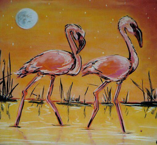 flamingos by kaleidoscopecreation