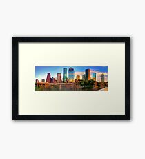 Houston Texas Downtown Skyline Panorama Framed Print