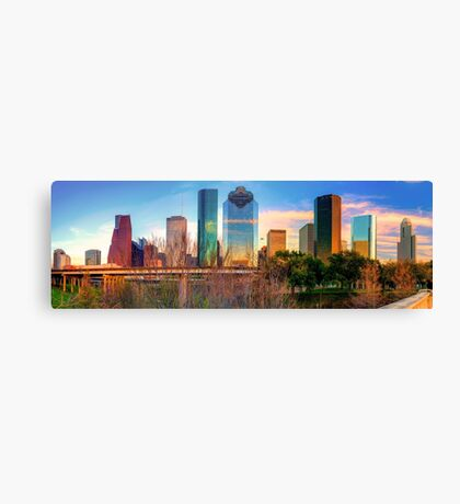Houston Texas Downtown Skyline Panorama Canvas Print