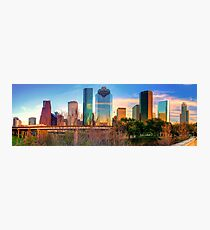 Houston Texas Downtown Skyline Panorama Photographic Print