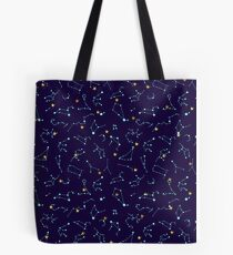 Constellation Night Sky - Astronomy Astrology Stars Solar System Tote Bag