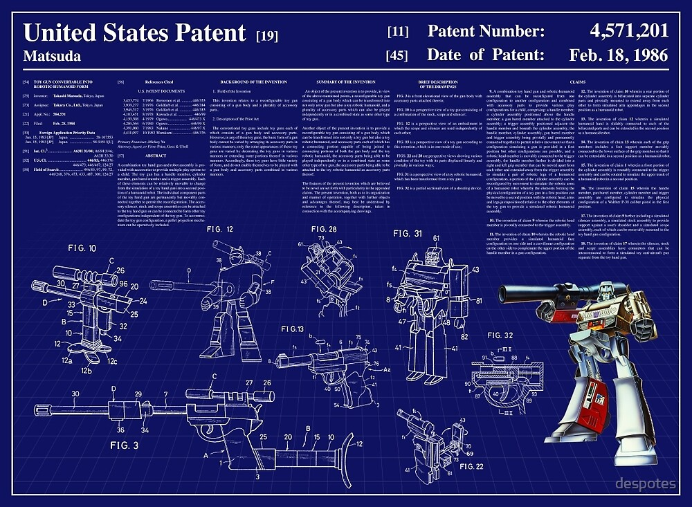 Megatron Patent Art & Text by despotes