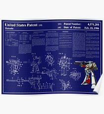 Megatron Patent Art & Text Poster