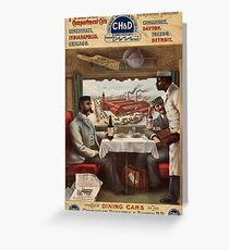Antique Advertisement Poster - Pullman Compartment Cars (1894) Greeting Card