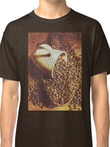 Vintage coffee shop scene Classic T-Shirt