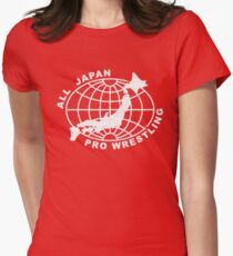 All Japan Pro-Wrestling Womens Fitted T-Shirt