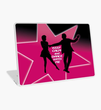 keep calm and dance - west coast swing Laptop Skin