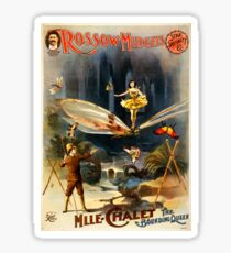 Antique Vaudeville Poster - Mademoiselle Chalet, the Bounding Queen (1897) Sticker