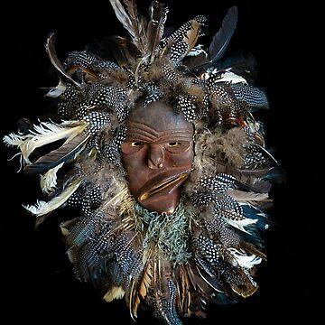 The Face of he Who - Chewa Mask - Zambia  by beyondartdesign
