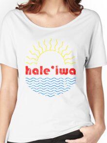 Hale'iwa Wavy Sun Women's Relaxed Fit T-Shirt