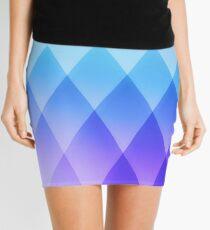 geometric abstract purple Mini Skirt