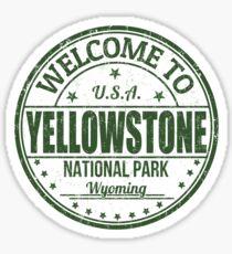 Yellowstone National Park USA - America United States Travel Stamp Sticker