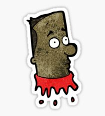 gross severed head cartoon Sticker