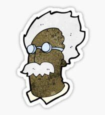 cartoon genius scientist face Sticker