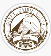 Cairo Egypt Travel Destination Sticker