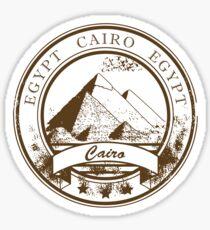 Cairo Egypt Travel Destination Sticker