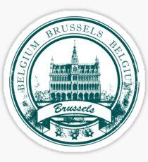 Reiseziel Brüssel-Belgien Sticker