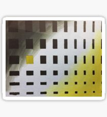 Abstract Yellow and Gray Sticker