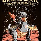 Space Pulp Robot Dinosaur Hero (Print Version) by Nathan Davis