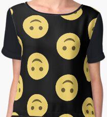 Emoji Upside-down Happy Face Women's Chiffon Top