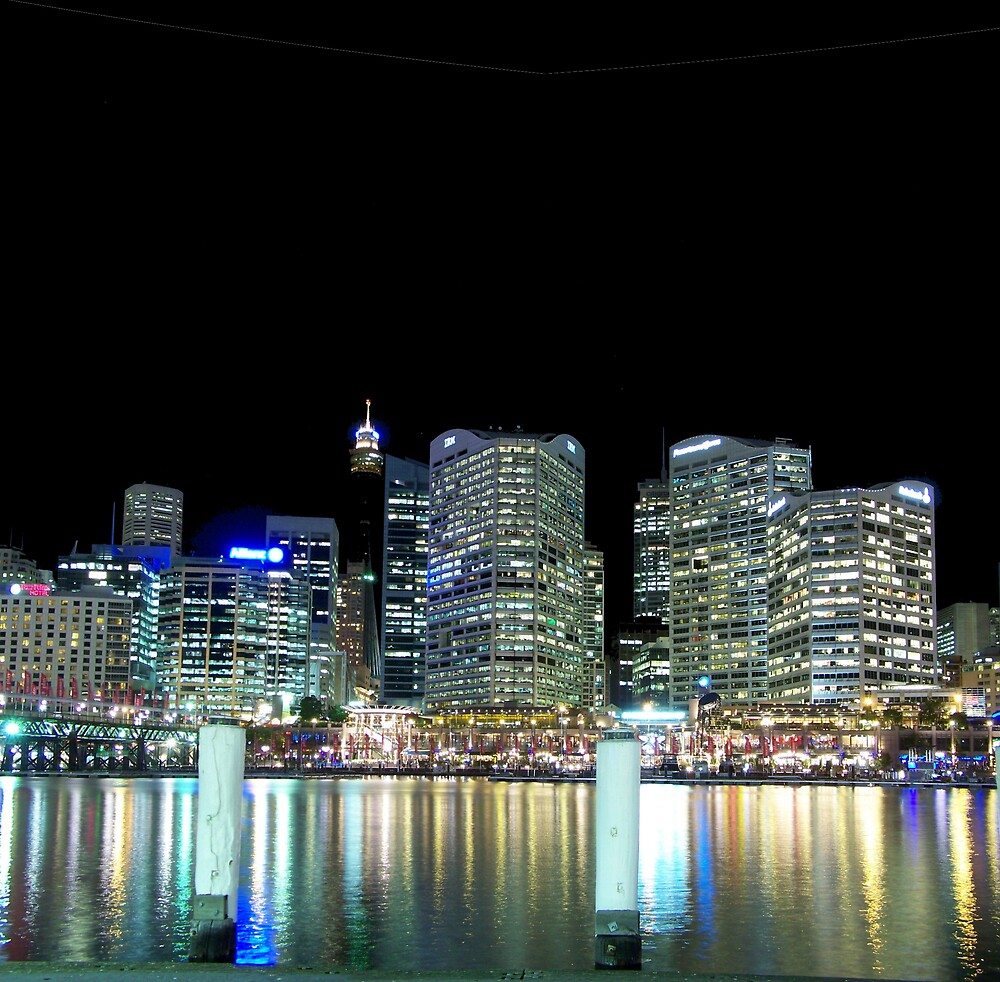 Darling Harbour At Night by aperture
