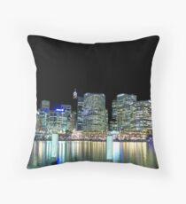 Darling Harbour At Night Throw Pillow