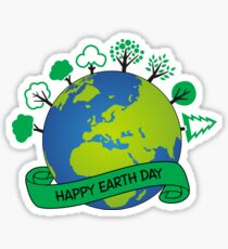 Happy Earth Day 2017 Sticker