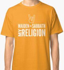 Maiden and Sabbath religion Classic T-Shirt