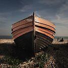 Derelict boat by Matthew Bonnington