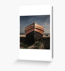 Derelict boat Greeting Card
