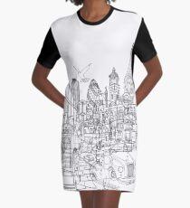 London! Graphic T-Shirt Dress