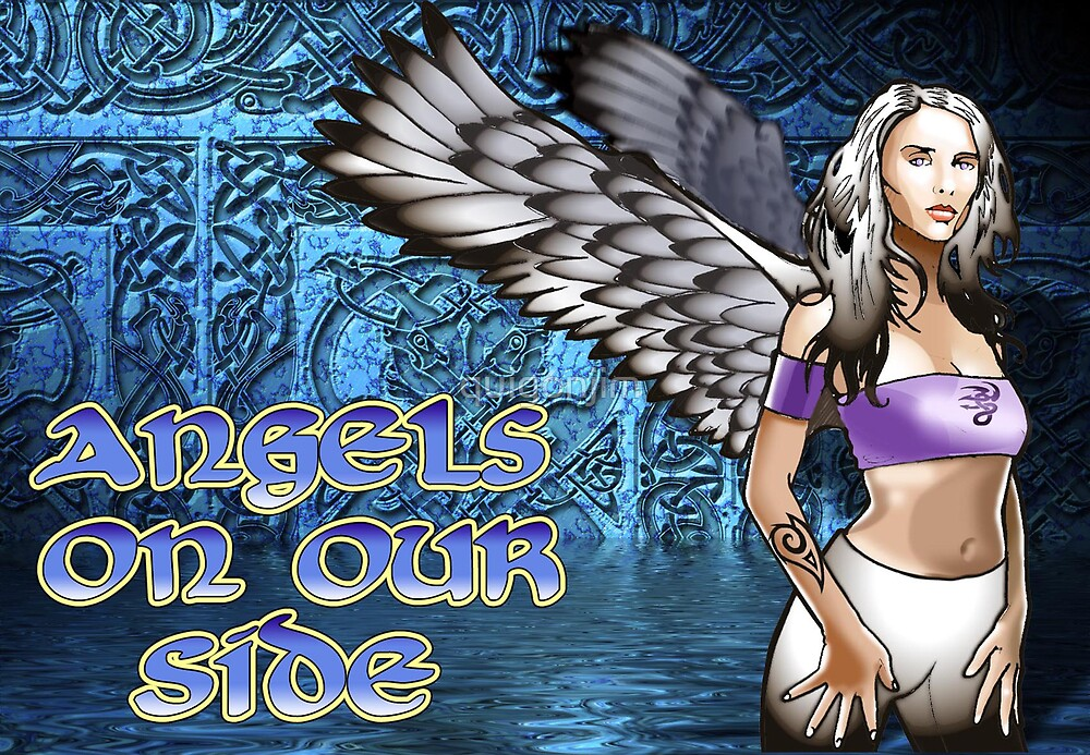 Angels On Our Side: Celtic Angel by quigonjim