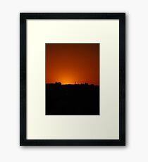 Jordan sunset Framed Print