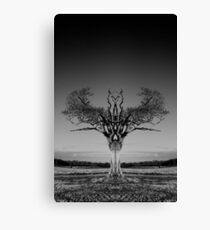 Rihanna Tree Symmetry Canvas Print