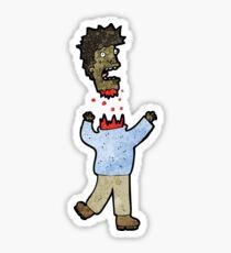 cartoon man with severed head Sticker
