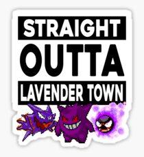 Straight Outta Lavender Town Sticker