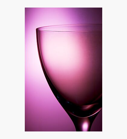 Pink glass still life Photographic Print