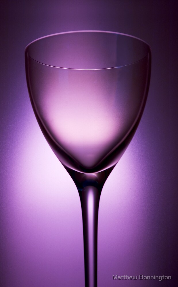 Purple glass still life 2 by Matthew Bonnington