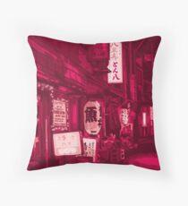 Tokyo in Pink Throw Pillow